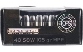 Ammo Inc 40105HPF OPS 40 Smith & Wesson (S&W) 105 GR Hollow Point - 20rd Box