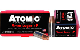 Atomic 00409 Defense 9mm Luger 124 GR Bonded MHP - 50rd Box