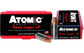 Atomic 00454 Defense 9mm Luger +P 124 GR Bonded Match Hollow Point - 20rd Box