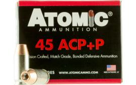 Atomic 00458 Defense 45 ACP +P 185 GR Bonded Match Hollow Point - 20rd Box