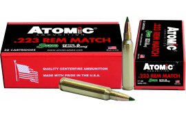 Atomic 00459 Match .223/5.56 NATO 77 GR Tipped MatchKing - 20rd Box