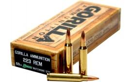 Gorilla Ammunition GA22369SMK Gorilla Match .223/5.56 NATO 69 GR Sierra MatchKing - 20rd Box