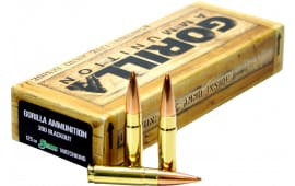 Gorilla GA300125SMK Gorilla Match 300 AAC Blackout/Whisper (7.62X35mm) 125 GR Sierra MatchKing - 20rd Box