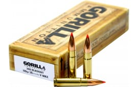 Gorilla Ammunition GA300110VMAX Gorilla Match 300 AAC Blackout/Whisper (7.62X35mm) 110 GR V-Max - 20rd Box