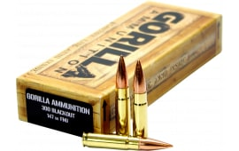 Gorilla GA300147FMJ Gorilla Match 300 AAC Blackout/Whisper (7.62X35mm) 147 GR Full Metal Jacket - 20rd Box