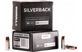 Gorilla Ammunition SB9115SD Silverback 9mm Luger 115 GR Solid Copper Hollow Point - 20rd Box