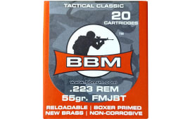 BBM 223FM55ZA Tactical 223 Remington/5.56 NATO 55 GR FMJ - 20rd Box