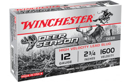 "Winchester Ammo X12DS Deer Season 12GA 2.75"" 1-1/4oz Slug Shot - 5sh Box"