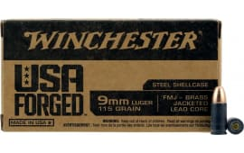 Winchester Ammo WIN9SV USA Forged 9mm Luger 115 GR Full Metal Jacket - 50 Round Box Box