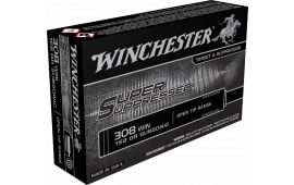 Winchester Ammo SUP308 Super Suppressed 308 Winchester/7.62 NATO 168 GR Full Metal Jacket OT - 20rd Box