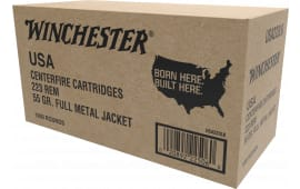 Winchester Ammo USA223LK .223/5.56 NATO 55 GR Full Metal Jacket - 1000rd Case