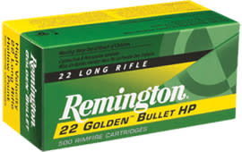 Remington Ammo 1622 22LR 36 GR HV Plated Hollow Point - 50rd Box