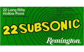 Remington Ammunition SUB22HP Subsonic 22 LR Hollow Point 38 GR - 50rd Box