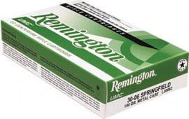 Remington L30062 UMC 30-06 150 GR Metal Case (FMJ) - 20rd Box