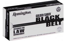 Remington Ammunition GSN9MMCB Golden Saber 9mm Luger 124 GR Jacketed Hollow Point - 20rd Box