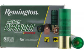 "Remington Ammunition PRX12M Premier 12GA 3"" 437 GR Sabot Slug Shot - 5sh Box"