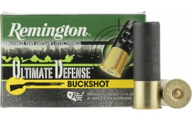 "Remington Ammunition 12HB00HD Ultimate Defense 12GA 3"" Buckshot 15 Pellets 00 Buck - 5sh Box"