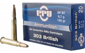 PPU PP303S1 Standard Rifle 303 British 150 GR Soft Point - 20rd Box