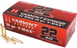 Hornady 832022 Varmint Express 22 WMR 30 GR V-Max - 200rd Box