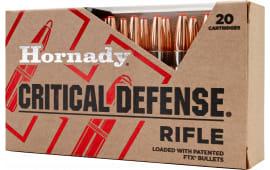Hornady 80920 Critical Defense FTX 308 Winchester 155 GR Flex Tip Expanding - 20rd Box
