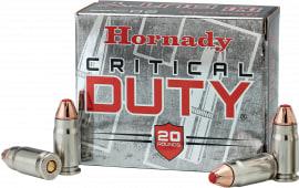 Hornady 91296 Critical Duty 357 Sig Sauer FlexLock 135 GR - 20rd Box