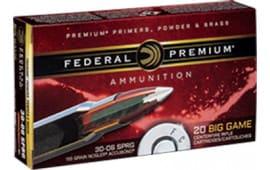 Federal P3006A3 Vital-Shok 30-06 150 GR Nosler AccuBond - 20rd Box