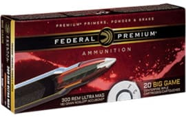 Federal P300RUMA1 Vital-Shok 300 Remington Ultra Magnum (RUM) 180 GR Nosler AccuBond - 20rd Box