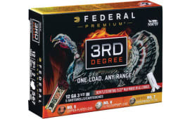 "Federal PTDX139567 3rd Degree Turkey 12GA 3.5"" 2oz 5,6,7 Shot - 5sh Box"
