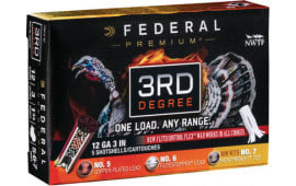 "Federal PTDX157567 3rd Degree Turkey 12GA 3"" 1-3/4oz 5,6,7 Shot - 5sh Box"