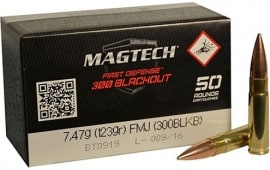 MagTech 300BLKB Rifle Training 300 AAC Blackout/Whisper (7.62x35mm) 123 GR Full Metal Jacket - 50rd Box