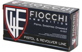 Fiocchi 45LCCMJ Shooting Dynamics 45 Colt (LC) 225 GR Copper Metal Jacket Flat Point - 50rd Box