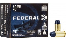 Federal S40SJT2 40 175 SJHP Synthetic - 50rd Box