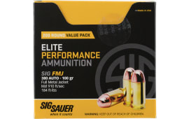 Sig Sauer E380B1200 Elite Ball 380 ACP 100 GR Full Metal Jacket - 200rd Box