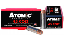 Atomic 00444 Match 45 Colt (LC) 250 GR Bonded Match Hollow Point - 50rd Box