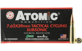 Atomic 00474 Tactical Cycling Subsonic 7.62x39mm 220 GR Hollow Point Boat Tail - 50rd Box