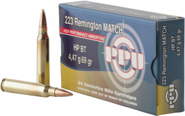 PPU PPM2231 Match .223/5.56 NATO 69 GR Hollow Point Boat Tail - 20rd Box