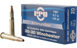 PPU PP30301 Standard Rifle 30-30 Winchester 150 GR Flat Soft Point - 20rd Box