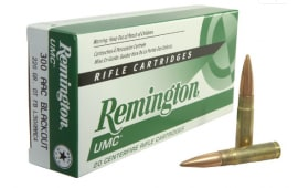 Remington UMC .300 AAC Blackout 220gr Subsonic Ammo L300AAC4 - 20rd Box
