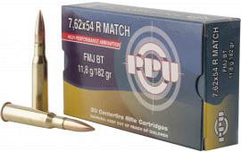 PPU PPM7 Match 7.62x54mmR 182 GR Full Metal Jacket - 20rd Box