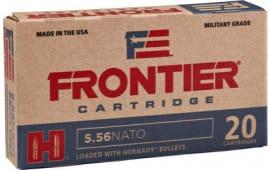 Frontier Cartridge FR240 Frontier 223 Remington/5.56 NATO 55 GR Hollow Point Match - 20rd Box