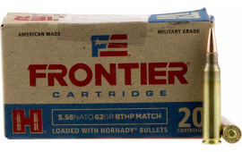 Frontier Cartridge FR300 Frontier 223 Remington/5.56 NATO 62 GR Boat Tail Hollow Point Match - 20rd Box