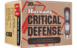 """Hornady 86238 Critical Defense 410 GA 2.5"""" Lead 2 Round Balls/1 Slug 35 Cal/41 Cal - 20sh Box"""