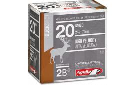 "Aguila 1C2002BA Field High Velocity 20GA 2.75"" 2-3/4oz 2 Buck - 25sh Box"