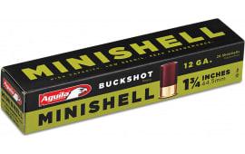 "Aguila 1CHB1288 Minishell 12GA 1.75"" Buckshot 5/8oz #4/#1 Buck - 20sh Box"