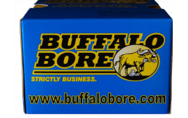 Buffalo Bore Ammo 32A/20 45 Auto Rim +P 255 GR Hard Cast Flat Nose - 20rd Box
