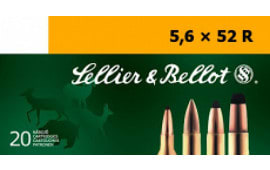 Sellier & Bellot SB5652RB Rifle Training 5.6mmX52R 70 GR FMJ - 20rd Box