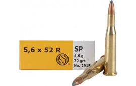 Sellier & Bellot SB5652RA Rifle 5.6mmX52R 70 GR Soft Point - 20rd Box