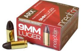 Inceptor 9ARXBRLUG65 Preferred Defense 9mm Luger 65 GR ARX - 25rd Box