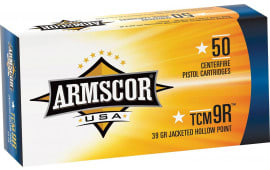 Armscor FAC22TCMNR1N TCM 9R 39 GR Jacketed Hollow Point - 50rd Box
