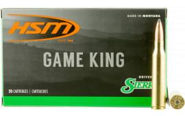 HSM 338LAP14N Game King 338 Lapua Magnum 215 GR SBT - 20rd Box